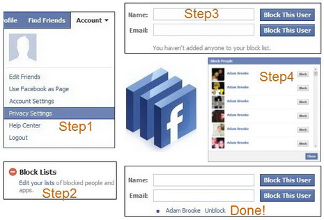 How to block remove and delete people or friends on facebook quertime how to block people on facebook using privacy settings method howtoblockpeopleonfacebookusingprivacysettingsmethod ccuart Image collections