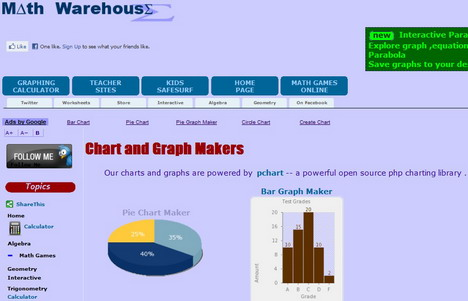 Math Warehouse Is A Free Online Tools For You To Make Pie Charts Bar Graphs Ter Plotore