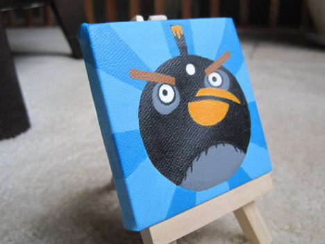miniature_black_bird_painting