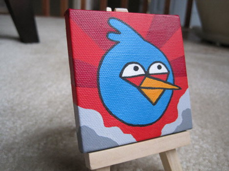 miniature_blue_bird_painting