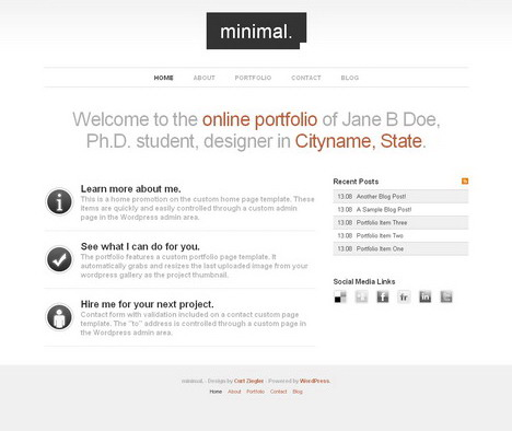 minimal_wordpress_portfolio