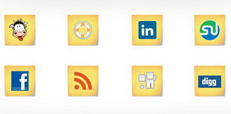 free_social_media_icons_post_it_note_style