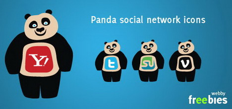 free_vector_icons_panda_social_network_icons