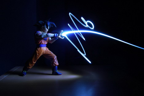 light_graffiti_goku