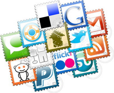 social_post_stamps_free_icon_set