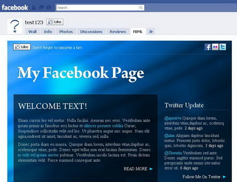38 Beautiful and Creative Free Facebook Fan Page Templates (Best ...
