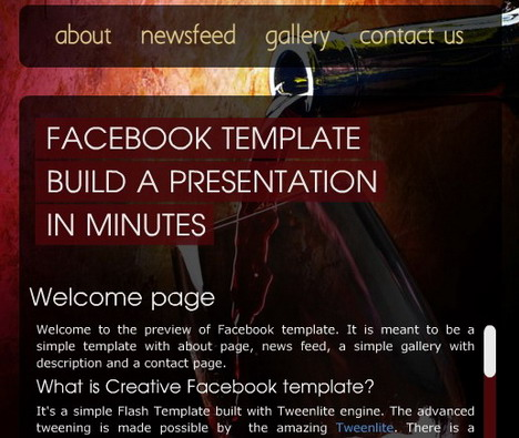 creative_facebook_page_template