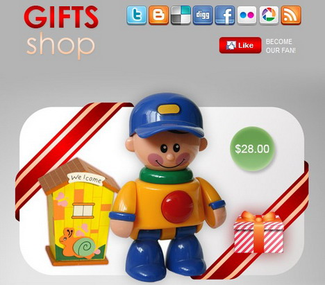 gifts_shop_facebook_fan_page_template