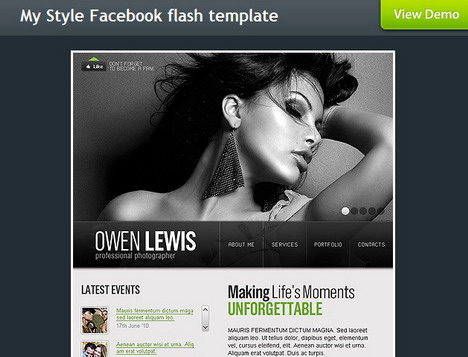 my_style_facebook_flash_template