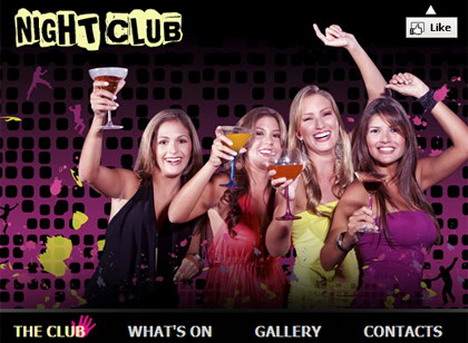night_club_free_facebook_fan_page_template