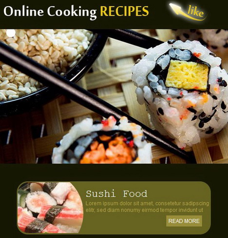 online_cooking_recipes_facebook_fan_page_template