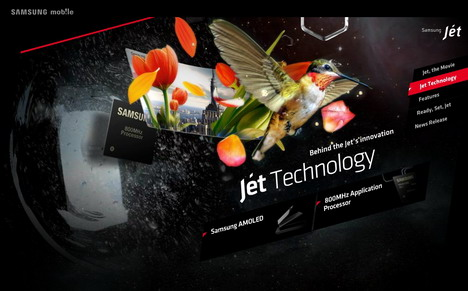 samsung_jet_smarter_than_smartphone_60_best_creative_and_interactive_flash_websites
