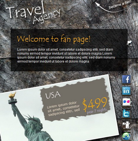 travel_agency_facebook_fan_page_template