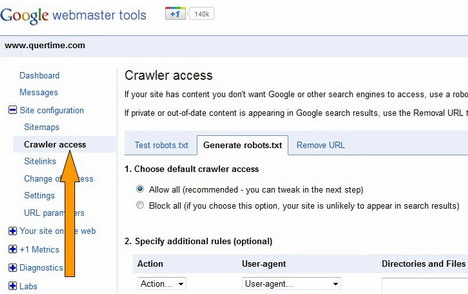 use_google_webmaster_tools_to_create_robots_txt_file