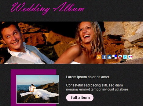 wedding_album_facebook_fan_page_template