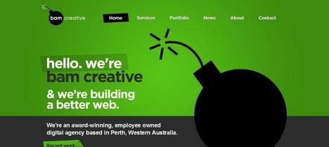 bam_creative_best_green_themed_website