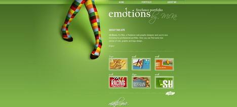 emotions_best_green_themed_website