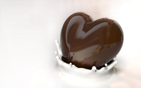 love_shape_chocolate_wallpaper