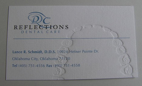 reflections_dental_care_business_card_design