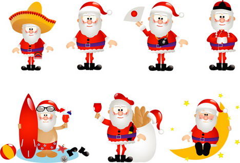 13_santa_clauses_vector_icons_best_free_christmas_icons_sets