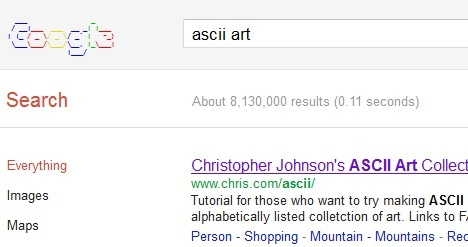 ascii_art_best_google_tricks_and_easter_eggs