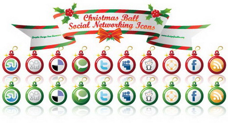 free_vectors_early_christmas_social_networking_icons