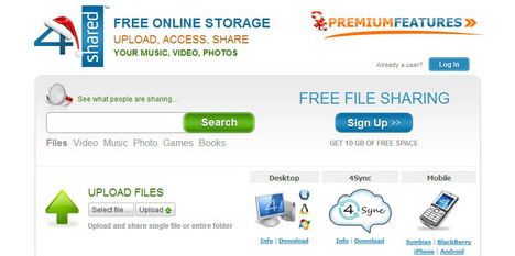 4shared_best_online_file_sharing_sites