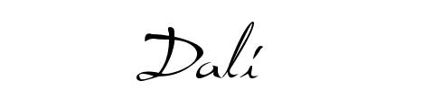 dali_beautiful_free_hand_drawn_fonts
