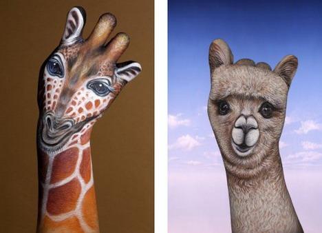 giraffe_and_alpaka_best_animal_hand_painting
