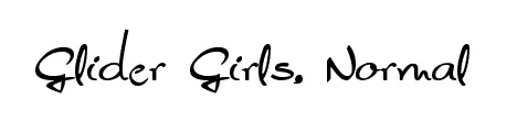 glider_girls_beautiful_free_hand_drawn_fonts
