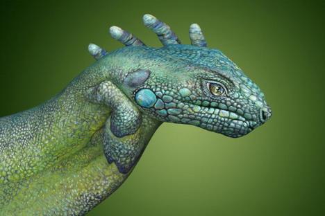 iguana_best_animal_hand_painting