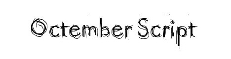 octember_script_popular_free_hand_drawn_fonts