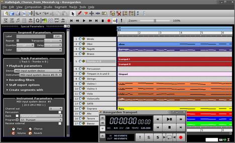 rosegarden_best_free_digital_audio_editors