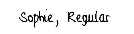 sophie_regular_popular_free_hand_drawn_fonts