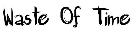 waste_of_time_popular_free_hand_drawn_fonts