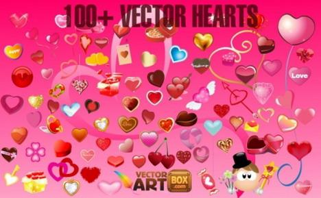 100_vector_hearts