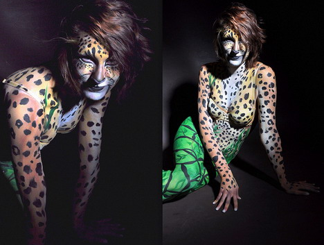 art_body_painting_leopard_amazingly_beautiful_body_painting_photos