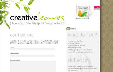 creative_leaves_beautiful_contact_form_page_designs