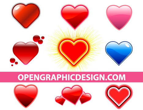 glossy_hearts_in_vector