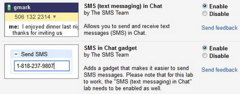 How to Send Free SMS Text Messages from Google Gmail Chat - Quertime