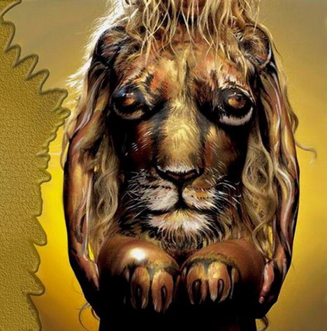 lion_amazingly_beautiful_body_painting_photos