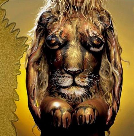 lion_amazingly_beautiful_body_painting_photos