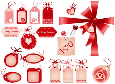 love_badges_ribbons_bows_in_red