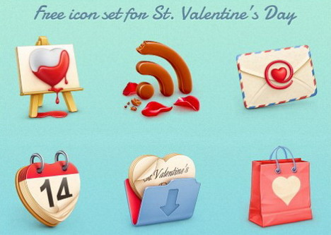 st_valentine_s_day_icon_set
