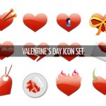 40 Beautiful Valentine, Love and Heart Shaped Icon Sets (Free Download)