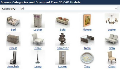 3d max furniture library free download