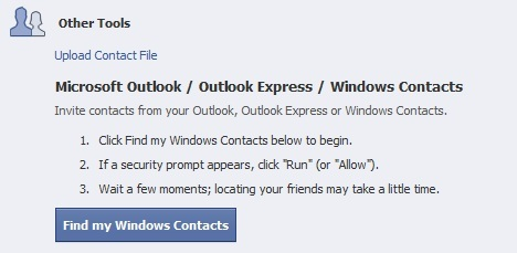 find_people_from_microsoft_outlook_outlook_express_and_windows_contacts_on_facebook