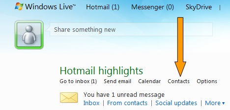 how to delete contacts in windows live mail