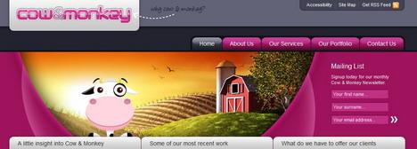 cow_and_monkey_best_creative_impressive_website_header_designs