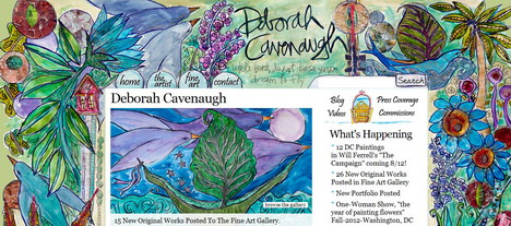 deborah_cavenaugh_best_creative_impressive_website_header_designs